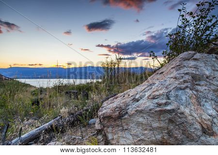 scenic view overlooking the okanagan valley in bc canada