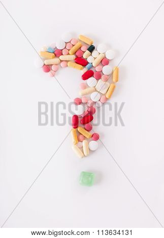 Question Mark Of Pills