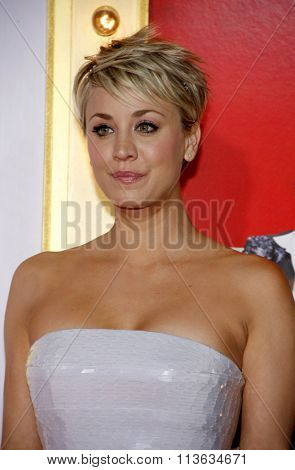 Kaley Cuoco at the Los Angeles premiere of