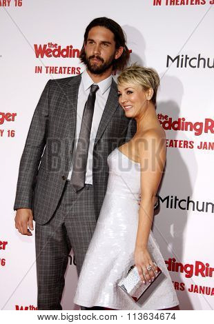 Kaley Cuoco and Ryan Sweeting at the Los Angeles premiere of