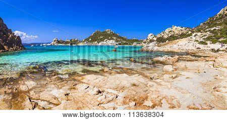 beautiful beaches of Sardinia, arhipelago la Maddalena, Italy
