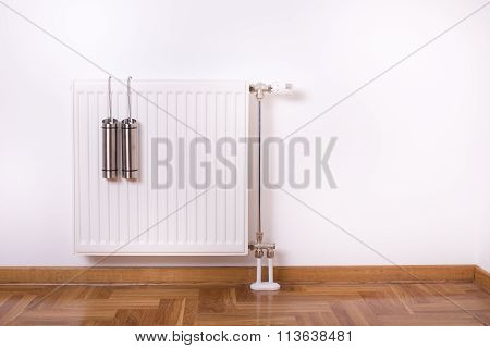 Air Humidifier Container On Radiator