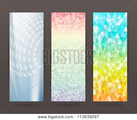 Set Vertical Banner Background Template Layout Flyer62