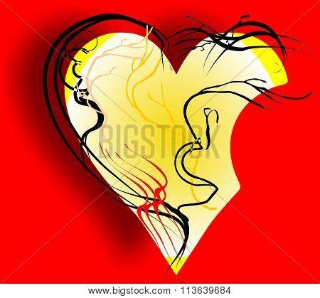 bitten heart for Valentine's day