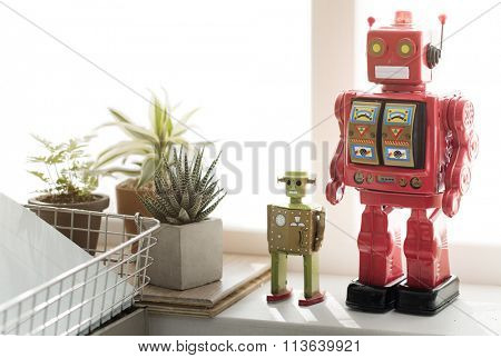 Control Robot Robotic Gadget Metal Object Science Concept
