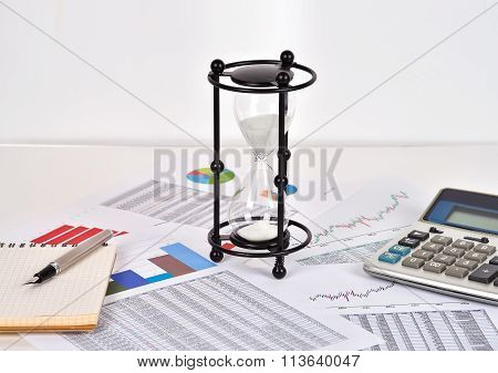 Sandglass And Financial Report