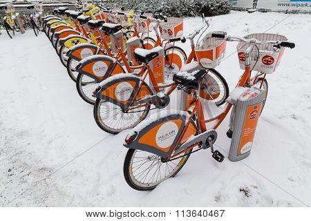 Vienna Public Bikes In The Winter