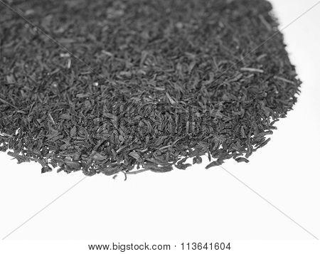 Black And White Loose Tea Heap
