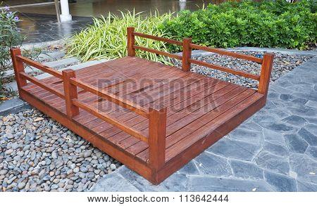 Brown Wooden Foot Bridge In The Park