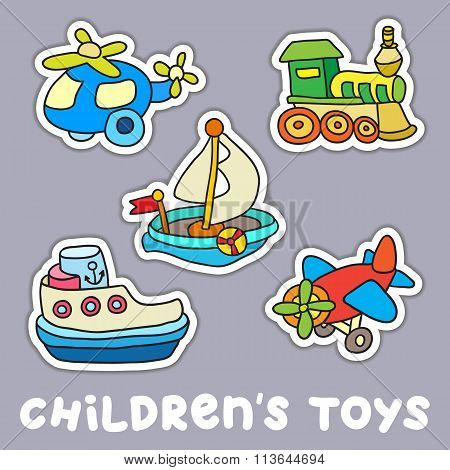 Set Of Childrens Toys.