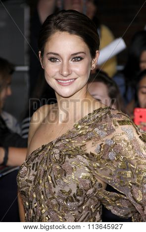 Shailene Woodley at the Los Angeles premiere of