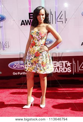 Kerry Washington at the 2014 BET Awards held at the Nokia Theatre L.A. Live in Los Angeles, USA on June 29, 2014.