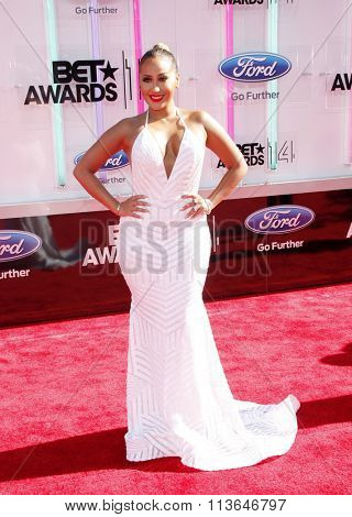 Adrienne Bailon at the 2014 BET Awards held at the Nokia Theatre L.A. Live in Los Angeles, USA on June 29, 2014.