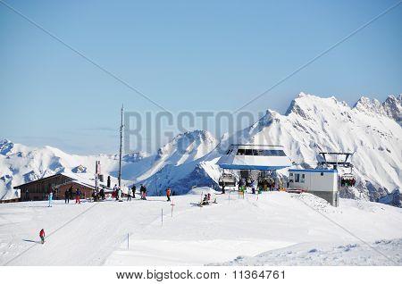 Pizol famous Swiss skiing resort