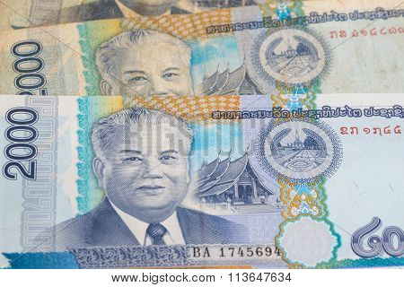 Laos Money Background