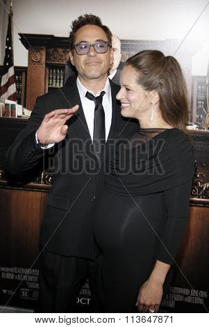 Robert Downey Jr. and Susan Downey at the Los Angeles premiere of