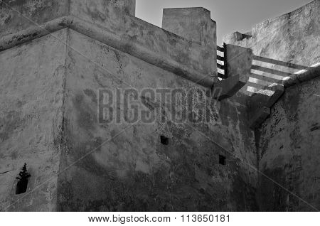 Shadow detail in Saint Sebastian Fort
