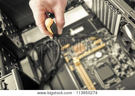 Inside of the personal computer.