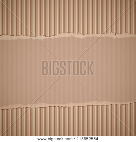 Corrugated Cardboard. Stock Illustration.