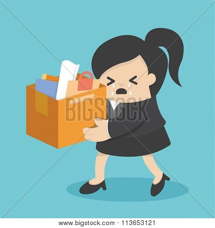 Concept Of The Expulsion Of Business Woman