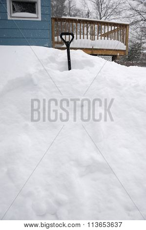 residential area after blizzard