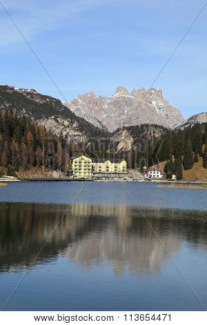 Lake Misurina and village