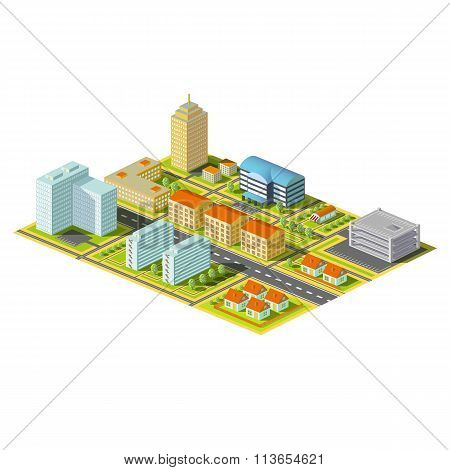 Isometric City. Stock Illustration.