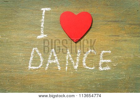 Text I Love Dance