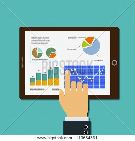 Financial Analysis. Stock Illustration.