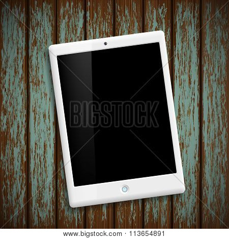 White Tablet. Stock Illustration.