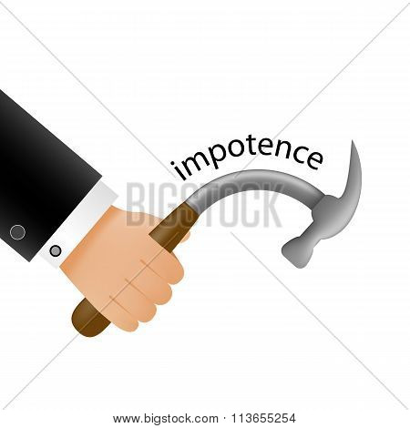 Impotence. Stock Illustration.