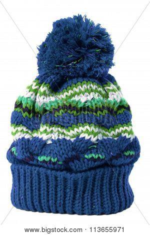 Blue Bobble Hat
