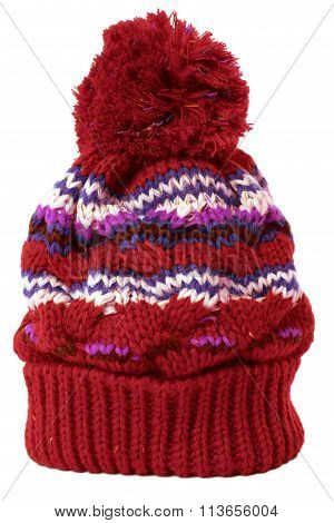 Red winter knit Hat