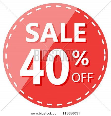 Red Hot Sale 40% Off Label