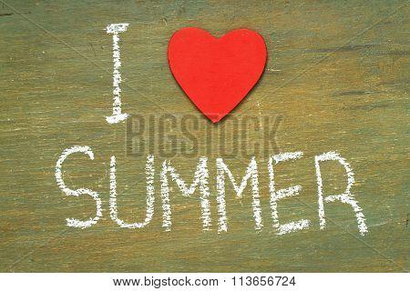 Text I Love Summer Written