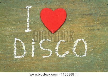 Text I Love Disco