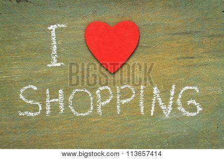 Text I Love Shopping