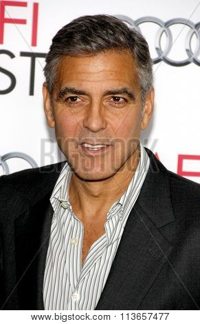 George Clooney at the AFI Fest 2013 Gala Screening of