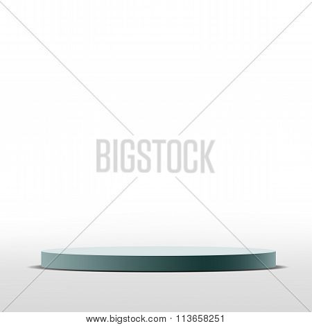 Round Pedestal. Stock Illustration.