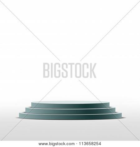 Round Pedestal. Stock Illustration.