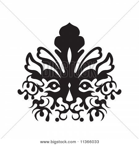 Stock vector : Tattoo Of A Tiger's Head