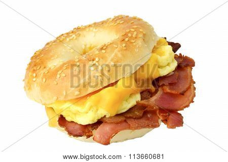 Bagel with bacon, egg and cheese