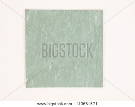 Green Rubber Linoleum Sample Vintage