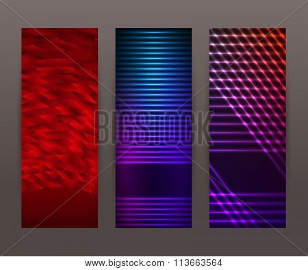 Set Vertical Banner Background Template Layout Flyer74