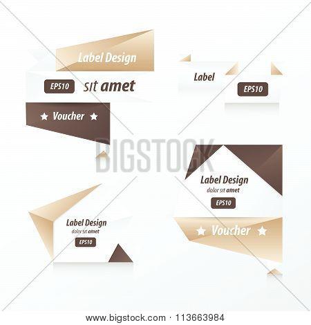 Banner Origami  Retro Design