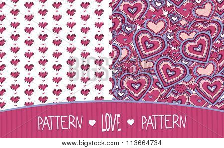 Two Love Patterns White And Pink