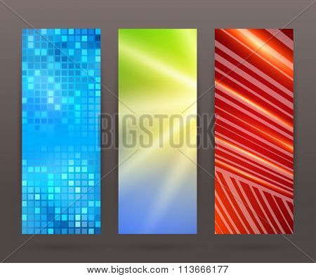 Set Vertical Banner Background Template Layout Flyer79