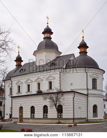 Kiev, Ukraine: September, 2014 - Old christianity church in the center of Kiev, Ukraine