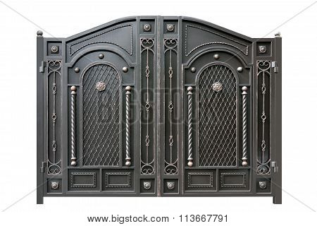 Metal  Gate  With Ornament.