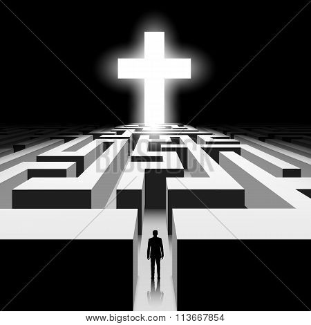 White Cross. Stock Illustration.
